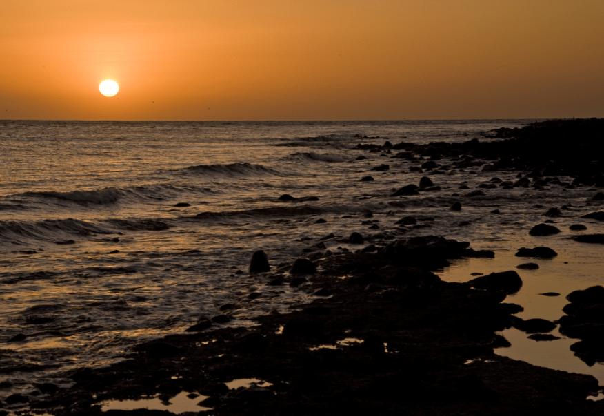 atardecer en Isla San Jorge