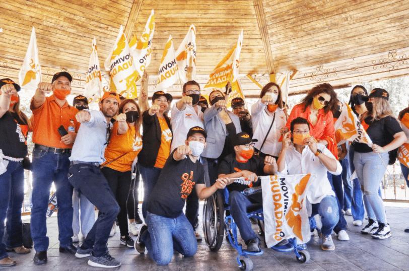 Ricardo Bours en campaña en Nogales
