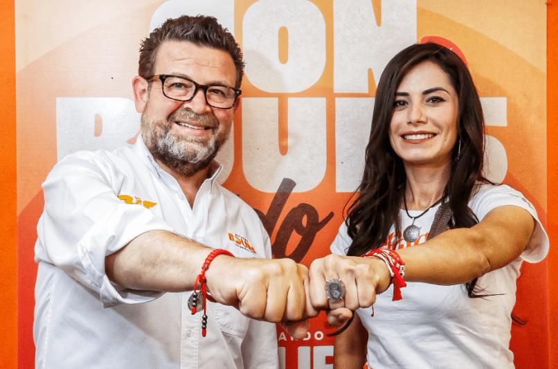 Ricardo Bours y Vero Delgadillo, candidatos de Movimiento Ciudadano.